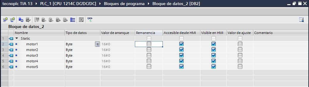 Bloque de datos optimizado.