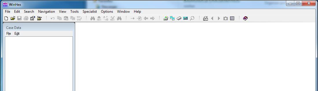 Programa WINHEX editor hexadecimal