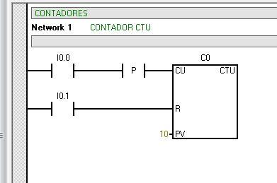 CTU : contador incremental en S7-200.