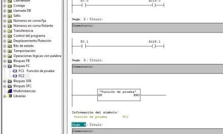 Tipo de llamada a una función en Step 7.