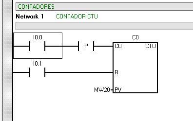Asignar un dato de tipo Word al valor PV del contador CTU.