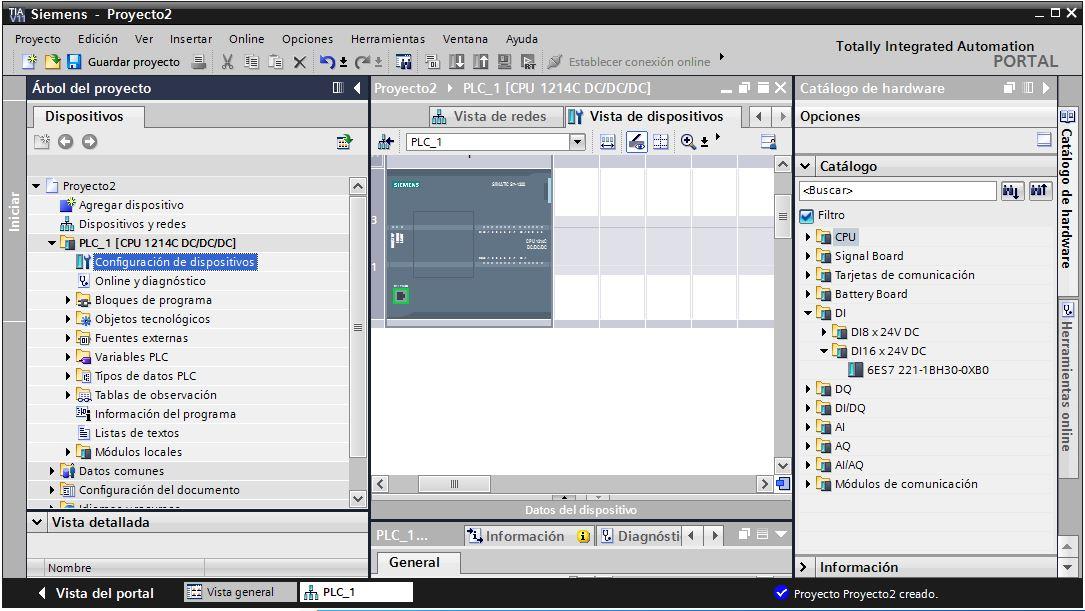 Configuración de dispositivos en TIA Portal V11