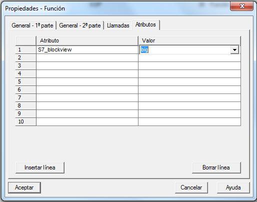 Selección de una valor de sistema para un atributo de sistema.