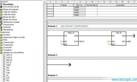 Tipo de datos Real en S7-200 diferencia con otro tipo de datos