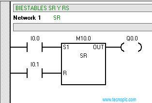 Set Reset en programación S7-200 utilización y desarrollo.