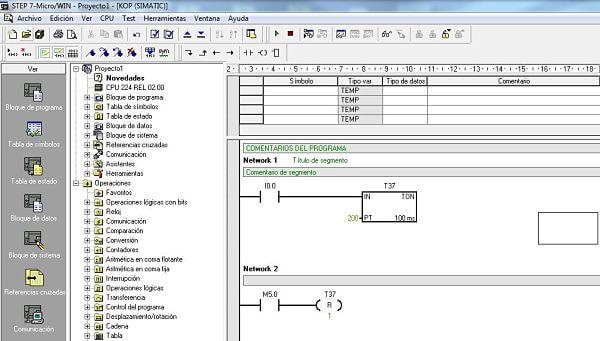 Temporizador TON en S7-200 configuración y bit activación