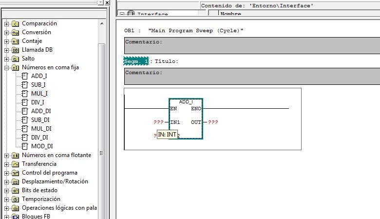 Determinar los tipos de datos compatibles en una función en S7-300.
