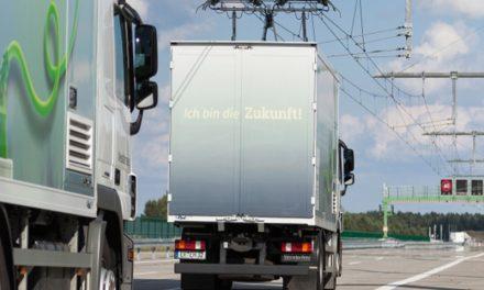eHighway : camiones alimentados por electricidad.