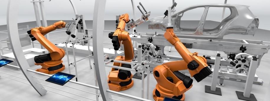 Sistema de producción: Instalación de puertas de un vehículo.