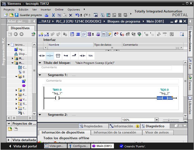 Cómo TIA Portal va a asignar variables predeterminadas.