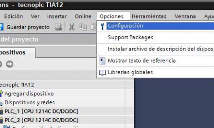 Cambiar el idioma del editor en TIA Portal.