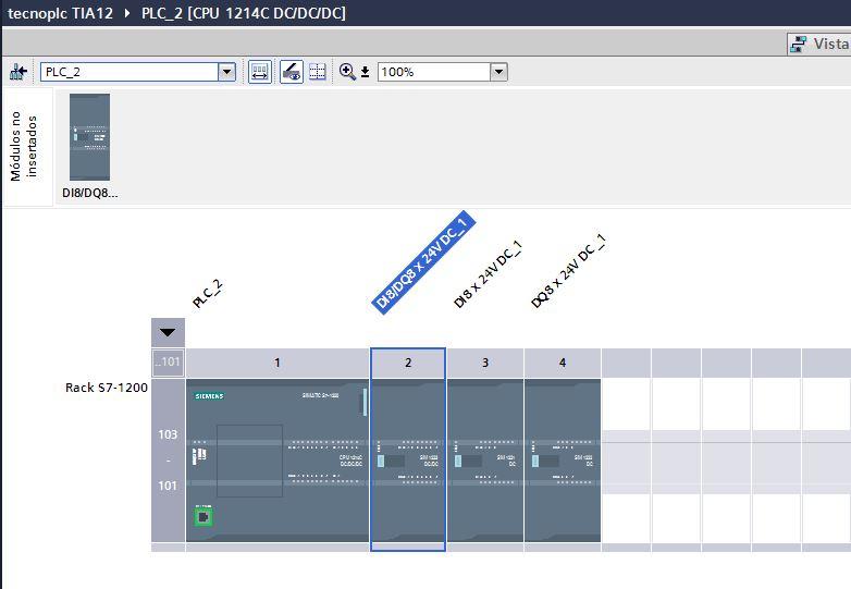 Insertar un módulo provisional en lugar del módulo no enchufado.