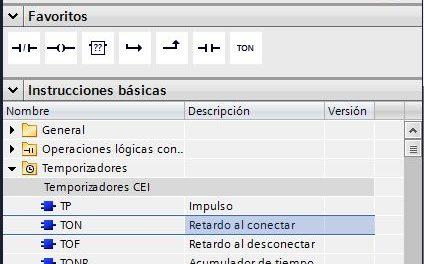 Cómo insertar instrucciones en TIA Portal.