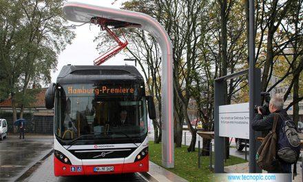 Autobús híbrido que se carga en 6 minutos.