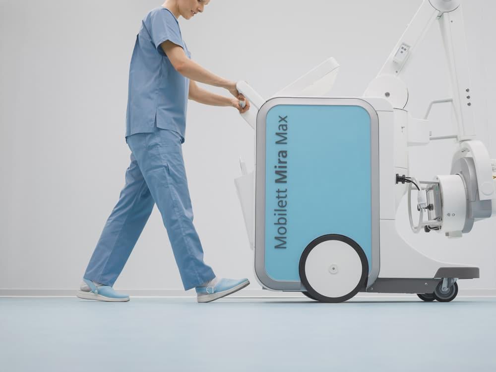 Dispositivo móvil de rayos X Mobilett Mira Max.