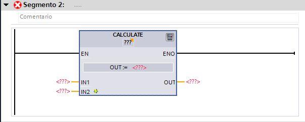 Insertar la función Calculate en el segmento.