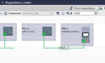 Conexión PLC y HMI en un proyecto TIA Portal.