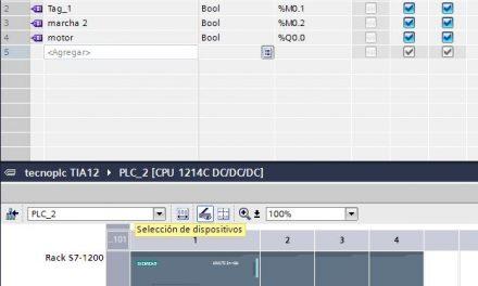 Crear variables para entradas y salidas en TIA Portal