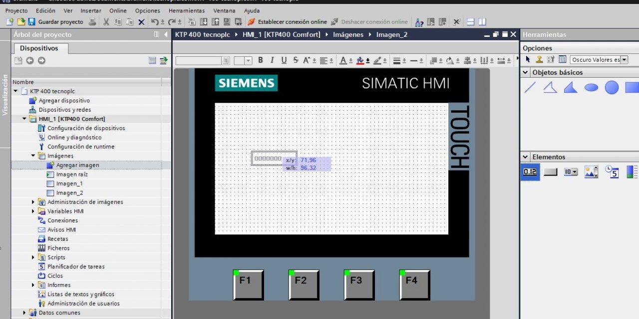 Creación de una pantalla HMI TIA Portal.