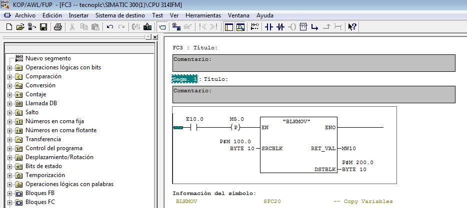 Ejemplo para permitir la coherencia de datos entre origen y destino.