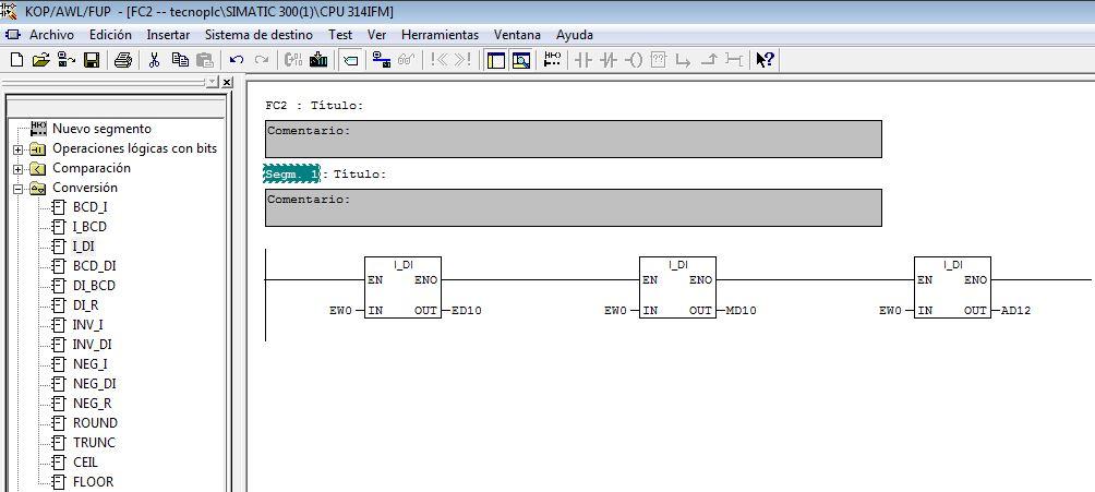 Ejemplos de parámetros de la salida OUT de la función.