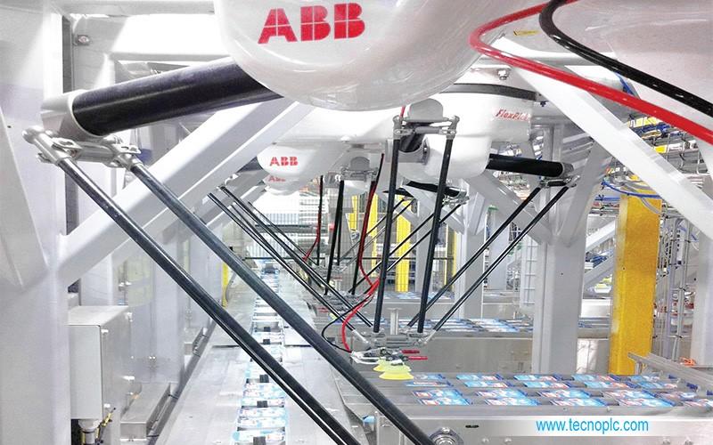 IRB 360 Flexpicker en línea de producción.
