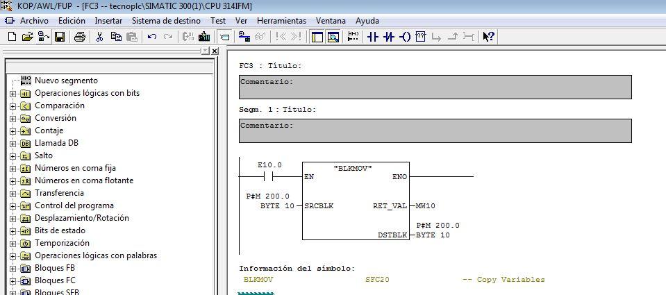 Ejemplo de condiciones en la función BLKMOV que darían error de solapamiento de áreas de memoria.