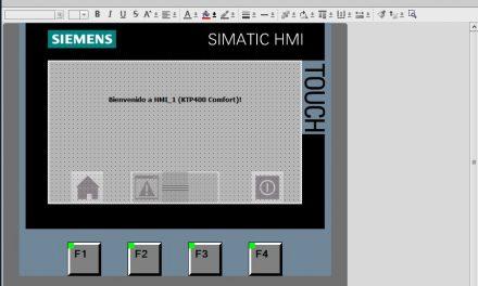 Interfaz WinCC Flexible para empezar un proyecto HMI