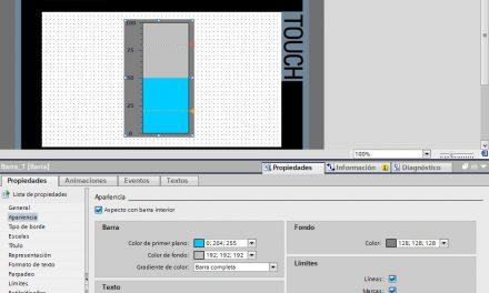 Configurar barra de nivel en proyecto TIA Portal