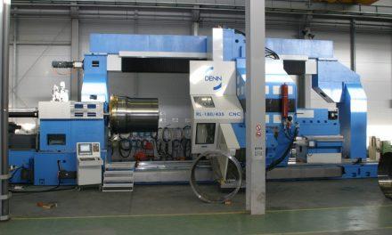 Máquina flowforming gigante con tecnología Siemens