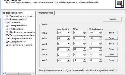 Remanencia S7-200 : definir áreas remanentes
