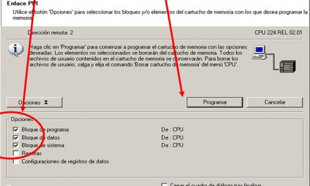 Transferir cartucho S7-200 a la CPU