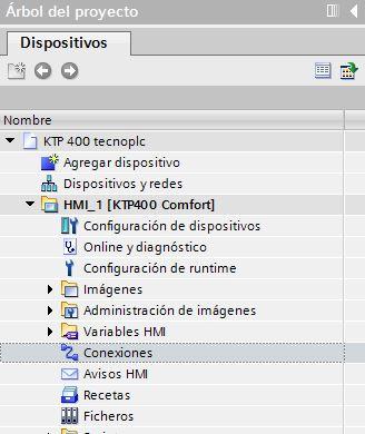 Conexiones en TIA Portal.
