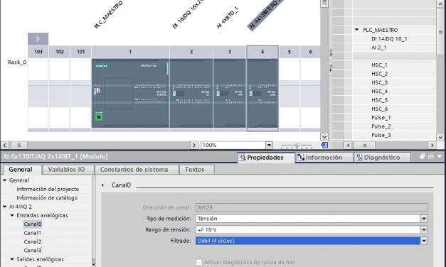 Señal analógica S7-1200 : configuración entradas TIA Portal
