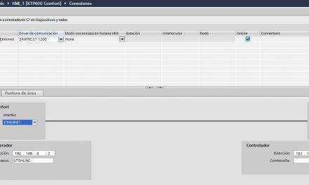Comunicación Ethernet HMI y S7-1200 en TIA Portal