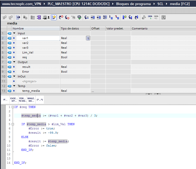 Sombreado automático de la misma variable en todo el código SCL.