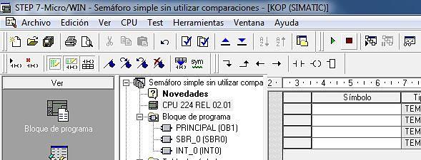 CPU 224 utilizada para el ejemplo S7-200.