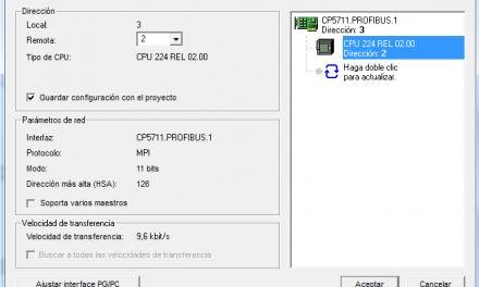 Establecer comunicación S7-200 entre PC y la CPU