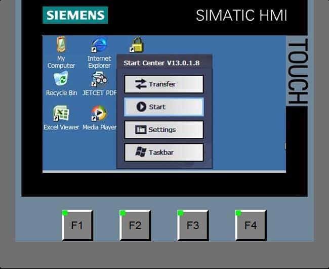 Acceder al panel de control de la pantalla táctil.