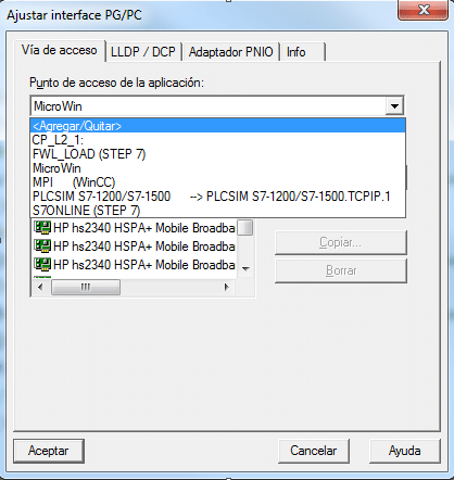 Fallo establecer comunicación S7-200 con la CPU