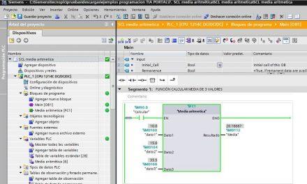 SCL media aritmética de 3 números en programación SCL TIA Portal