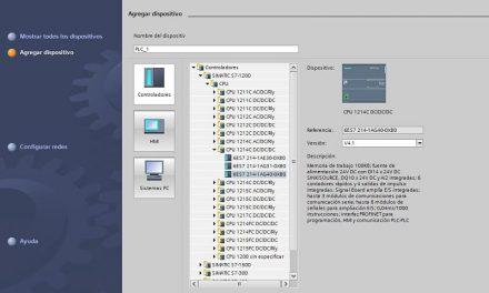 Configuración CPU TIA Portal modelo 214-1AG40-xxxx