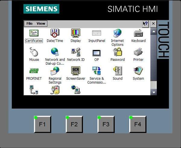 Dentro del panel de control de la pantalla.