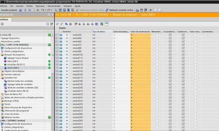 SCL inicializar DB a un valor en TIA Portal