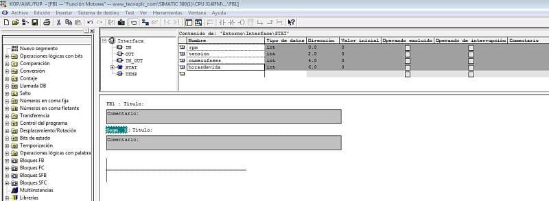 FB Step 7 : cómo crear una Función FB con datos multiinstancia Step 7