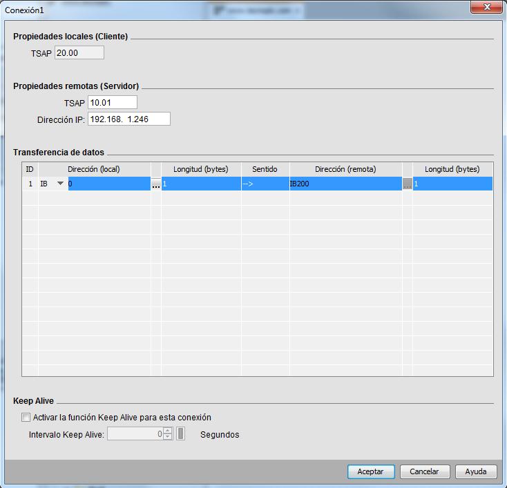 Comunicación LOGO S7-1200 Configurar los datos a transferir entre dispositivos.