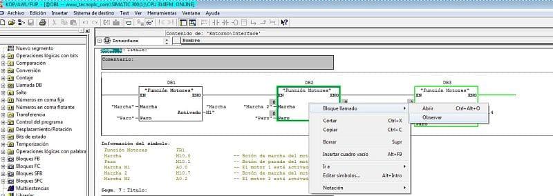 Visualizar FB Online con su DB Instancia en Step 7