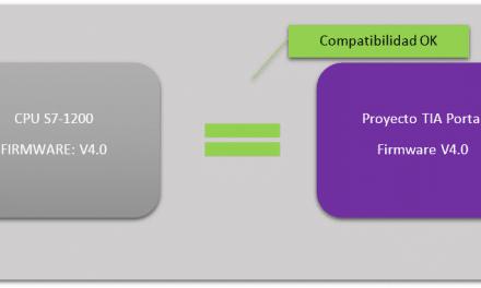 Compatibilidad Firmware V4.1 de S7-1200 y proyecto TIA Portal