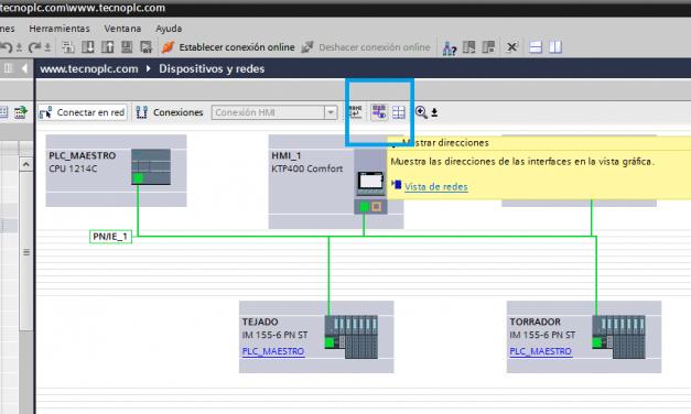 Direcciones IP en proyecto TIA Portal en Red Profinet