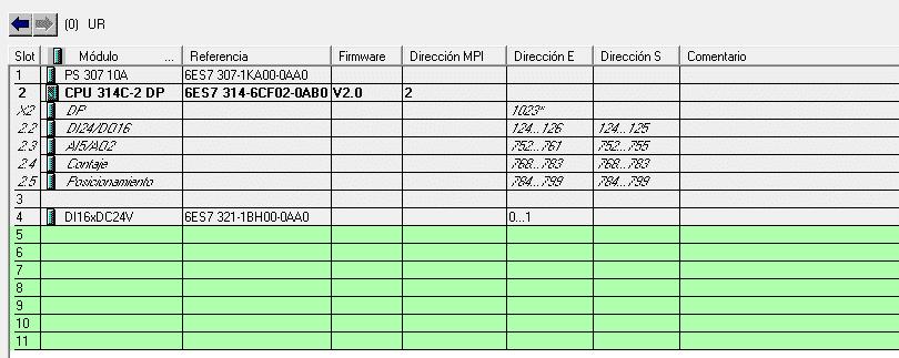 Añadir Hardware en proyecto Step 7 usando una CPU 314